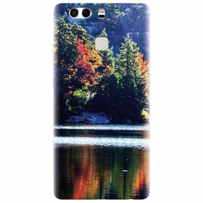 Husa silicon pentru Huawei P9 Plus, Lake Minnewaska Autumn foto