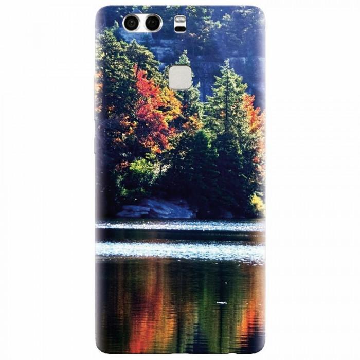 Husa silicon pentru Huawei P9 Plus, Lake Minnewaska Autumn
