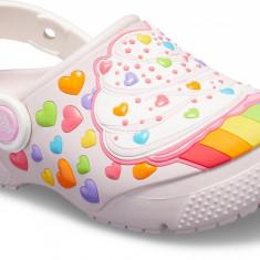 Saboți Fete casual Crocs Crocs Fun Lab Cupcake Clog, 23.5 - 25.5, 27.5 - 29.5, Roz