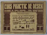 CURS PRACTIC DE DESEN , intocmit de Profesor VIRGIL CONDOIU , pictor DEM . DEMETRESCU , PENTRU CLASA I - A SECUNDARA , 1944
