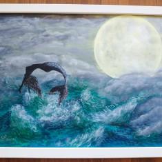 """Tablou pictura acrilica """"Sirena"""""""