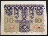 Bancnota ISTORICA 10 COROANE - AUSTRO-UNGARIA (AUSTRIA), anul 1922   *cod 620 A