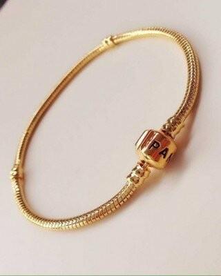 Bratara Pandora placata cu aur de 14k+ saculet elegant logo Pandora,CADOU!! foto