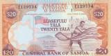 Bancnota Samoa 20 Tala (2005) - P35b UNC ( 2 semnaturi )