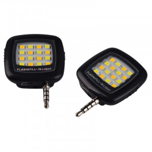 Blitz Pentru Telefon Cu 16 LED Si 3 Trepte Luminozitate