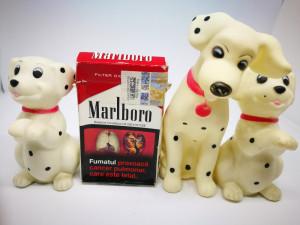 Figurine cauciuc: 3 catei dalmatieni. Jucarie caine dalmatian