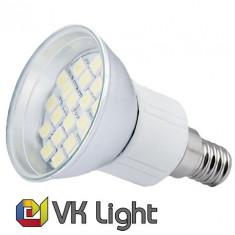 Bec LED E14, Putere 3,8W (45W), 400lm, Lumina Alba Rece, 24 SMD, VoiceKraft