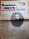 Romania literara 15 ianuarie 1981-articol mihai eminescu,131 ani de la nestere