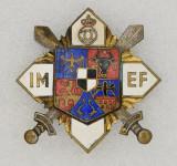 Insigna regalista - Institutului Militar de Educatie Fizica