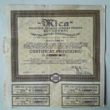 50000 Lei 1945 Mica Bucuresti Certificat provizoriu actiuni vechi Romania 129877