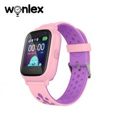 Ceas Smartwatch Pentru Copii Wonlex KT04 cu Functie Telefon, GPS, Camera, IP54 - Roz, Cartela SIM Cadou