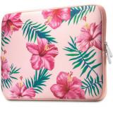 Cumpara ieftin Husa Upzz Tech Protect Floral Compatibila Cu Laptop 13- 14 Inch , Roz