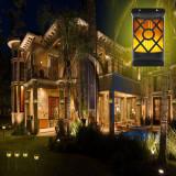 Aplica solara LED SMD cu efect real de flacara, 0.49W, fixare perete, IP65, ABS