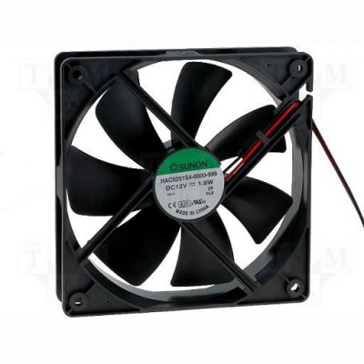 FAN 120X120X25 SLEEVE DC12V 93.4M3/H 29.6DBA foto