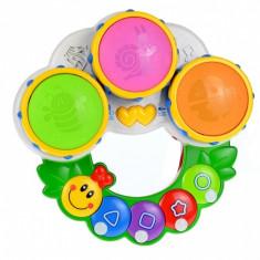 Pianina de jucarie pentru copii cu muzica, tobe, sunete haioase si lumini - 2216A-33