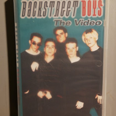 caseta VHS Originala cu BACKSTREET BOYS - VIDEO (1996/CBS/GERMANY) - F.BUNA