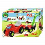 Mini Tractor cu Platforma si Masina de Tuns Iarba, Ecoiffier