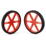 Pereche Roţi Roșii Pololu 80x10 mm