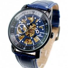 Ceas skeleton barbati automatic, business, elegant GOER BLUE G2120BL