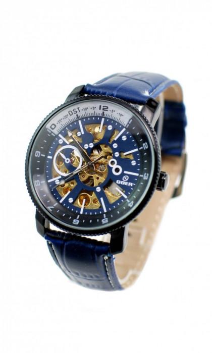 Ceas barbati automatic, business, elegant GOER BLUE G2120BL