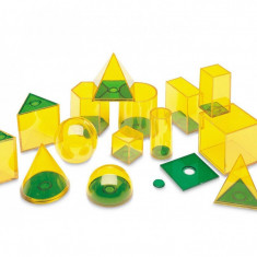 Forme geometrice GeoSolids Learning Resources, 14 piese, 8 - 12 ani
