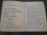 Carnet si carte membru Crucea Rosie Romania RPR