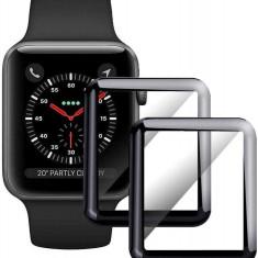 Folie Sticla Tempered Glass Ceas Apple Watch 38mm 3D Black