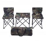 Cumpara ieftin Set Masa si Scaune pentru Camping, Pescuit, Picnic, Pliabile