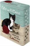 Cutie de depozitare metalica - Cats and Kittens
