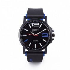 Ceas Barbatesc, Wecin CS893, model army albastru, curea silicon, stil sport