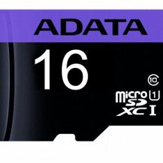 Card memorie AData microSDHC 16GB clasa 10 (fara adaptor) negru cu mov
