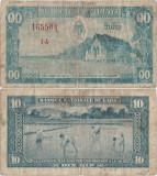 1957 , 10 kip ( P-3a ) - Laos