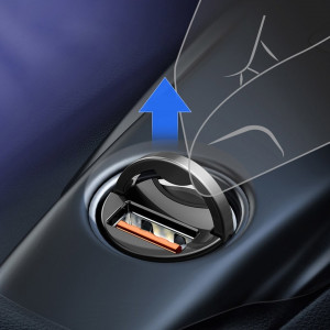 Incarcator Auto Baseus, Tiny Star Mini, Quick Charge, Albastru