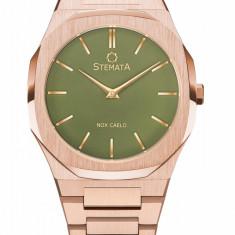 Ceas Stemata Code Editie Limitata, quartz, auriu roz verde, otel inoxidabil, 38 mm