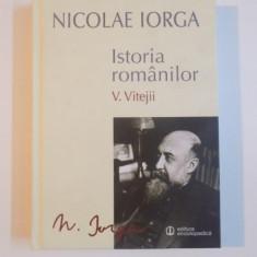 ISTORIA ROMANILOR , VOL. V , VITEJII de NICOLAE IORGA , 2014