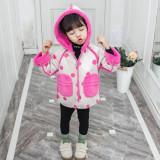 Jacheta imblanita crem deschis cu roz ciclamen (Marime Disponibila: 9-12 luni...