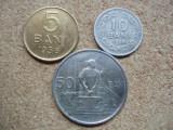 ROMANIA - SET 5 bani + 10 bani + 50 bani 1956 , RPR , L 1.39