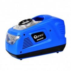 Compresor de aer pentru auto, Geko G01260, manometru, lanterna, alimentare 12V DC/230V AC