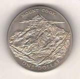 SV  * NOUA ZEELANDA   ONE DOLLAR / 1 DOLAR 1970 * MUNTELE COOK        AUNC+
