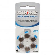 Baterii Rayovac 675 Implant Pro pentru proteze auditive 6 Baterii / Set