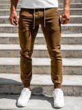 Pantaloni joggers maro bărbați Bolf CT8808