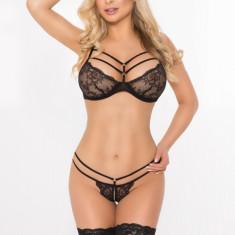 Set Lenjerie Intima Sexy Janet - Negru