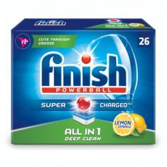Tablete detergent vase pentru masina de spalat vase FinishAll in One Deep Clean, 26 bucati