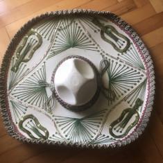 Sombrero,palarie de mexican,originala cu boruri mari, din Mexic