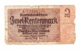Bancnota Germania 2 mark/marci 1937, circulata, uzata rau