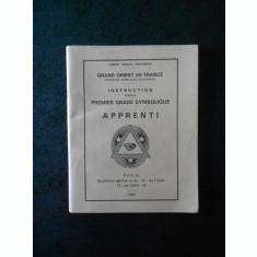 INSTRUCTION POUR LE PREMIER GRADE SYMBOLIQUE. APPRENTI (1993)