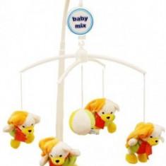 Carusel muzical Copii Happy Baby Mix - Plush Winter Bears