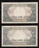ROMANIA - LOT DOUA BANCNOTE 1000 1 000 LEI, 10 SEPTEMBRIE1941