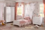 Cumpara ieftin Set Mobila dormitor din pal, pentru copii si tineret 4 piese Romantica White