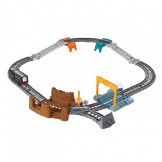 Set trenulet Fisher Price Track Builder Diesel 3 in 1, Thomas si prietenii